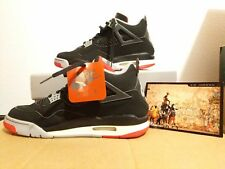 762d58f76a9 Nike Jordan 4 Retro Original IV Air DS talla 9.5 Negro Cemento 1999 Gris  Rojo 136013 001
