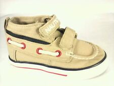 EUC $35 NAUTICA  Toddler Boy's HEADSAIL Tan Hi Top Shoes US 6 UK 5.5 EUR 22.5