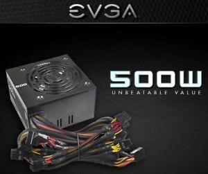 EVGA 500 W1 80Plus (80+) 500W Power Supply (new in box) 100-W1-0500-KR