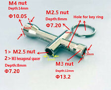 4 In 1 Mini Cross Wrench Screwdriver Spanner 4mm 5mm 5.5mm 7mm Zinc Alloy Tool