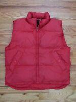 Eddie Bauer Red Down Puffy Vest Women's Medium NYZ9