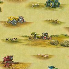 Papier Peint Rasch-TRACTEURS AGRICOLES/MOISSONNEUSE & animaux-Kids Room -293203