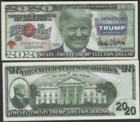 Trump 2020 Vote Election Dollar Republican Reserve Note - Lot of 10 Bills