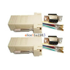 Extender Male DB9 to RJ45 Female RS232 Female M/F Adapter Connecter Convertor
