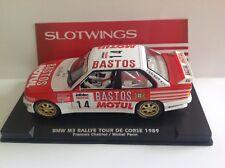 FLYSLOT-SLOTWINGS BMW M3 RALLY TOUR DE CORSE 1989 - SCALEXTRIC -NEW!