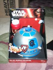 Star Wars R2-D2 Bubble Blaster Maker Party Machine w/8Oz Bubble Solution