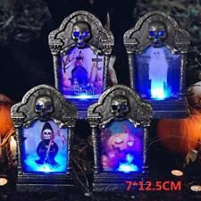 4X Halloween Decoration Creative Tombstone Light Lantern Halloween Party Props