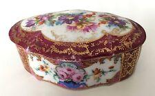 Ancienne boite en porcelaine de Derby, antique porcelain signed crown