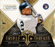 2017 Topps Triple Threads Factory Sealed Hobby Baseball Box