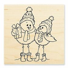 SPINDLY BIRDS Rubber Stamp W172 Stampendous! Brand NEW! Christmas Winter