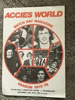HAMILTON ACCIES V SUNDERLAND FRIENDLY 1975/76