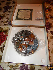 GONE WITH THE WIND ASHLEY & MELANIE PEWTER & STAINED GLASS COLLECTOR'S PLATES NU