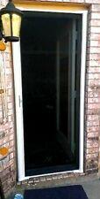 "32-36"" by 78 In. Brisa larson Brown Retractable Screen Door"
