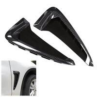Car Truck Carbon Fiber Side Body Marker Fender Air wing Vent Trim For   X5 F15