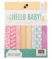 American Crafts 8.5 x 11 inch Hello Baby 180 Sheets Die Cuts with a View Stacks,