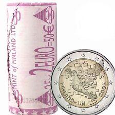 Roll  Rouleau -25 x 2€ - 2005 – Finlande  Finnland  Finland -50 yrs ONU - UNC