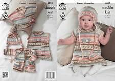 King Cole 4010 Knitting Pattern Baby Set in King Cole Cherish DK