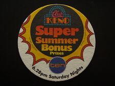 CLUB KENO SUPER SUMMER BONUS PRIZES CHANEL 10 6.28PM SATURDAY NIGHTS COASTER