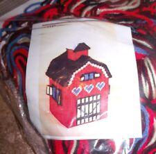 Design Work RED BARN Tissue Box Cover Plastic Canvas Kit