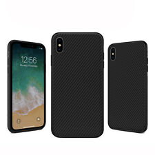 Case For iPhone Carbon Fibre Soft Cover TPU Silicone Slim X XR XS Max 8 7 Plus 6