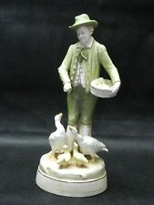 Antique Royal Dux Czechoslovakia Figurine 1850-1899 The Boy Feeding The Geese