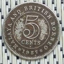 1957H - Malaya - 5 Cents Elizabeth II #CCAM