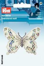 PRYM Aufbügel Applikation Schmetterling grau