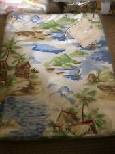 Pottery Barn Santa Barbara Hawaiian Style Surf Twin Duvet NWT