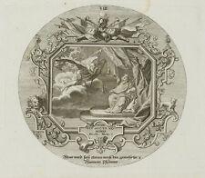PROBST(*1721), Emblem, Zeit hält den Spiegel vor, Boethius, um 1750, KSt