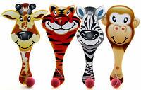 10 x Tier Paddel Ball Spielzeug Schläger mit Flummi Geduldspiel Mitgebsel Party