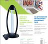 KAI Lampada Germicida UVC Sterilizzazione Ambiente con Telecomando e Sensore 36W