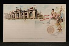 Columbian Exposition: Mines Building Official Souvenir Unused Postal Card