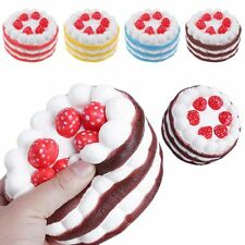 11CM Jumbo Squishy Strawberry Cake Scented Super Slow Rising Charms Phone Strap