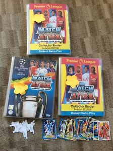 Match Attax Premier League 2017/18 & 2017/18 Extra Binders With Cards 886