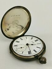 Vintage Baume Geneve Silver Pocket Watch Spares/Repair/Project Movement & Case