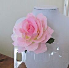 Rose Flower Hair Clip - Brooch Pale Pink