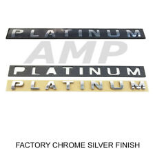 Expedition F-150 F-250 F-350 PLATINUM Door Rear Chrome Emblem Decal 2pc Set