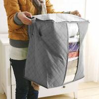 Bamboo Charcoal Folding Clothes Sweater Blanket Closet Organizer Storage Bag Gif
