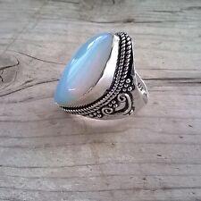 Anillo Plata 925 Fiery Opalite size 6 /16mm anillo boho etnico anillo unisex