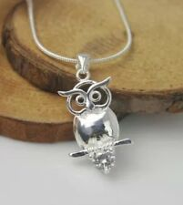 Sterling Silver Owl Necklace Pendant.