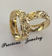Ring Set Sz 5-13 Free Engraving 14K Solid Gold His&Her Wedding/Anniversary Band