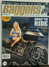 Baggers March 2016 Built to Ride The Rally Issue Where to Go FREE SHIPPING sb