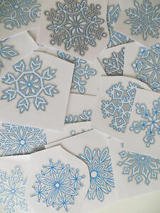15 Glitter Snowflake Window Clings Stickers Quick Simple Christmas Decorations
