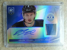 13-14 Panini Totally Certified Blue RC Horizontal Jersey Auto JACOB TROUBA /10