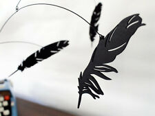 Salty and Sweet Falling Feather Black Modern Hanging Baby Mobile Decor Art