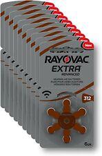 60 Piles Auditives Rayovac Pile Auditive Brun Taille 312 Analogique Numérique FR