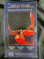 STAR TREK COLLECTOR'S EDITION 1 VHS 3 PACK