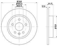 Mintex Rear Brake Discs MDC2132  - BRAND NEW - GENUINE - 5 YEAR WARRANTY