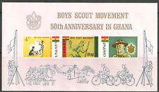 GHANA - Pfadfinderbewegung BLOC 27 NEUF 1967 mi.n ° 319-321