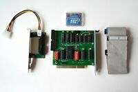 XT-IDE KIT = ISA 8-Bit IDE Controller card + CF-IDE Adapter + Cables + СF Card